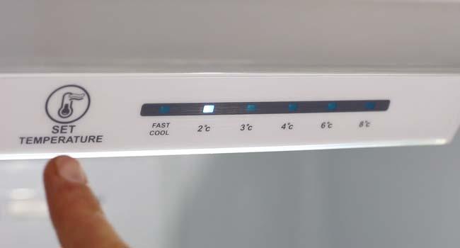 تنظیم درجه دمای داخل یخچال